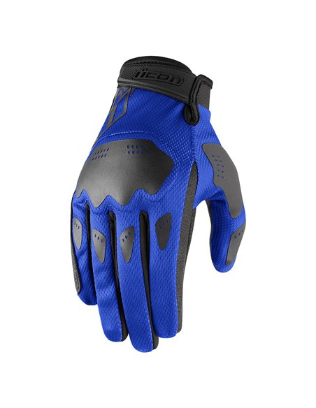 GUANTES DE MOTO ICON HOOLIGAN AZUL