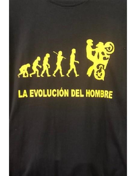 CAMISETA CON EL LOGO DE LA EVOLUCIÓN DEL HOMBRE