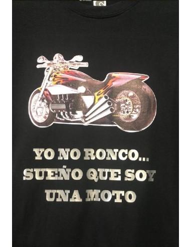 CAMISETA CON EL LOGO DE YO NO RONCO SUEÑO QUE SOY UNA MOTO