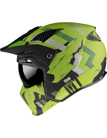 CASCO MT STREETFIGHTER SKULL2020 A16 MATT GREEN