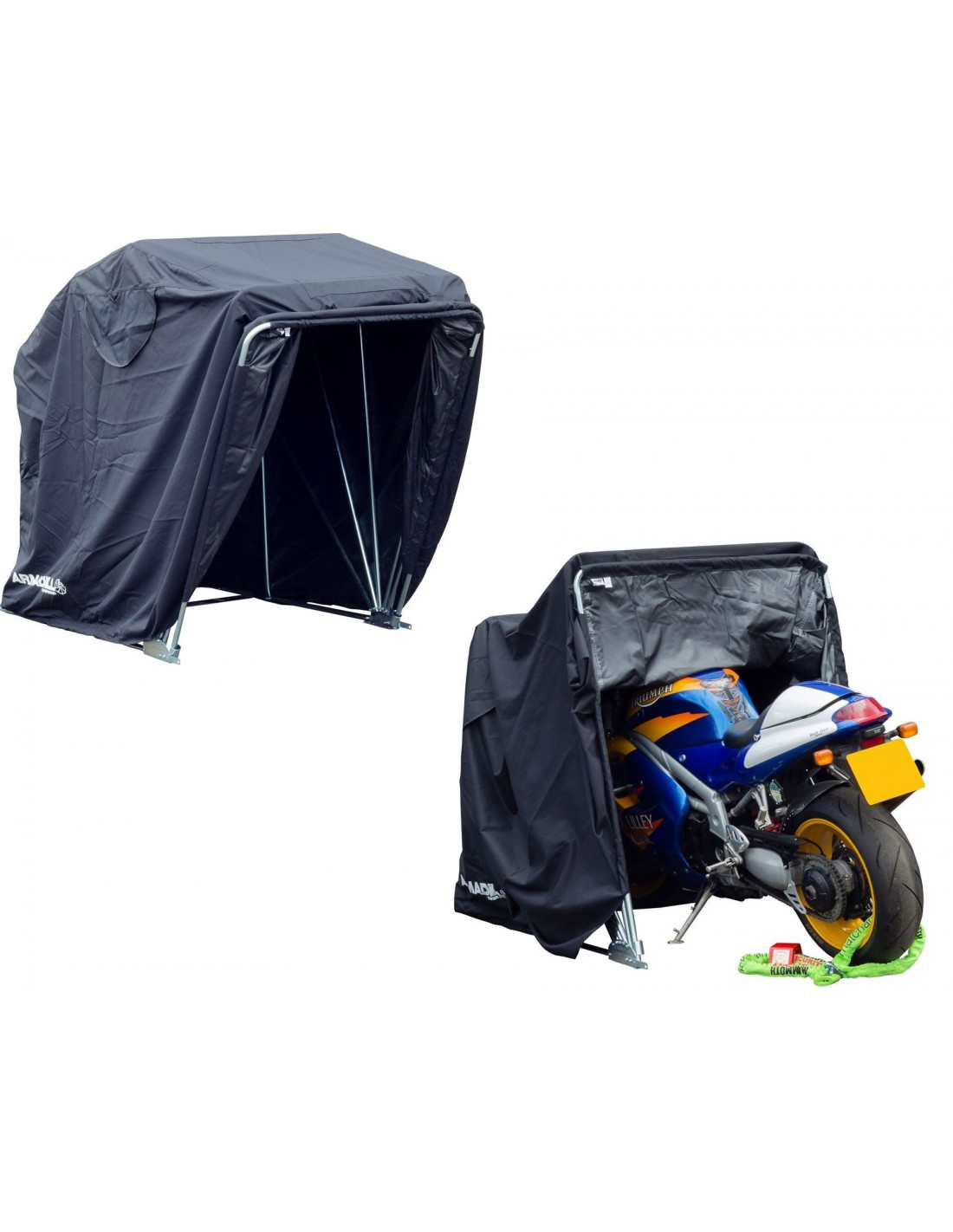 garaje portatil moto similar acebikes tamaÑo normal garaje para moto