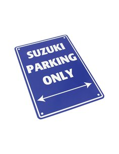 PLACA SUZUKI PARKING ONLY